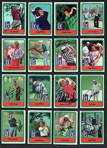 30 Verschiedene Unterzeichnet Signiert 1982 Donruss Golf Pga Tour Sammelkarten