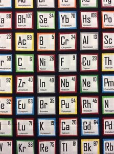 Rpg47x periodic table of the elements science chemistry cotton image is loading rpg47x periodic table of the elements science chemistry urtaz Choice Image