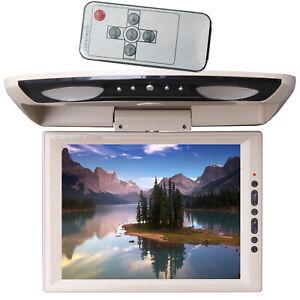 XtremeVsion 12.1HD TFT LCD Car Roof Mount Flip Down Monitor TV IR - TAN / BEIGE
