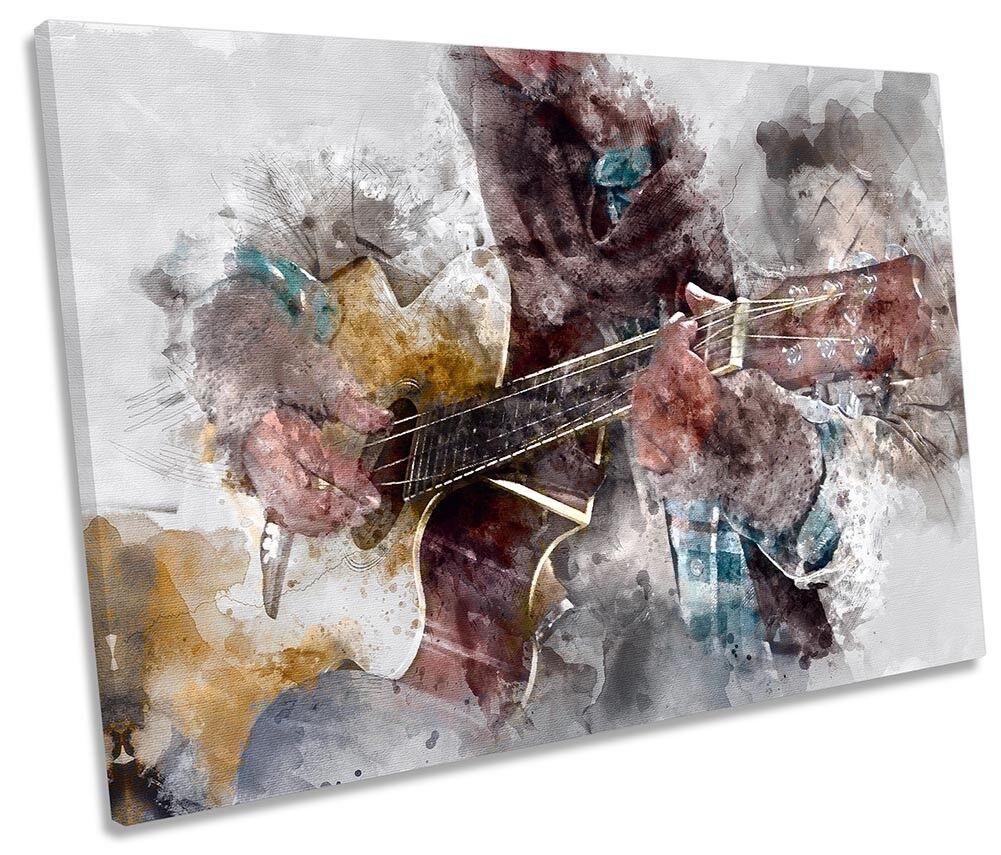 Guitar Grunge Instrument SINGLE CANVAS WALL ARTWORK Print Art