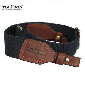 Tourbon-Webbing-Gun-Sling-Rifle-Shotgun-Strap-Belt-Leather-Buckle-Range-Shooting