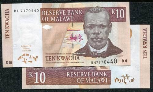10 KWACHA P43, 2004 UNC MALAWI p 43