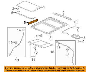 GM OEM Sunroof-Side Cover 84119757