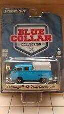 Greenlight Volkswagen T2 Doka Double Cab Blue 1/64 35060