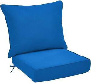 NEW AmazonBasics Deep Seat Patio Seat and Back Cushion- Blue Condition: New. AL (A64)(7463388) Markham / York Region Toronto (GTA) Preview