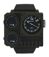 Diesel DZ7248 Men's Kickstart Triple Time Zone PVD Watch
