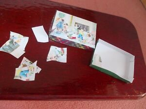 PUZZLE WITH OPENING BOX FOR A DOLLS HOUSE PICTURE OF A CLASS ROOM
