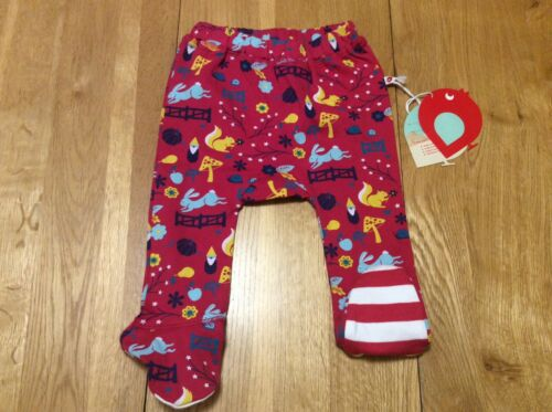 organic cotton BNWT Piccallily Enchanted forest footed trousers 3-6m /& 0-3m