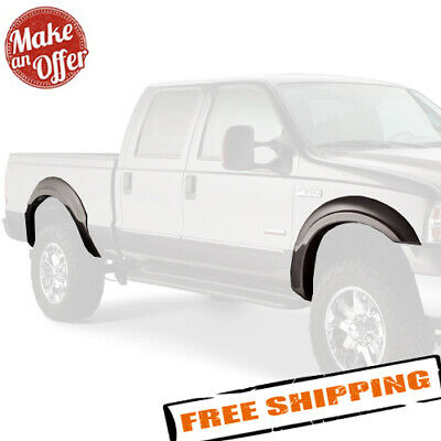 Bushwacker 20085-02 Pair of Front Extend-A-Fender Flares for F-250//F-350 SD