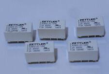 Lot of 5    Zettler Relays AZ832-2C-12DE 2A 30VDC 2A 125VAC
