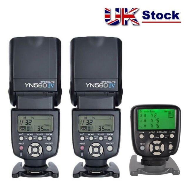 Yongnuo YN560-TX II Wireless Controller for Nikon + 2 x YN-560 IV Flash UK