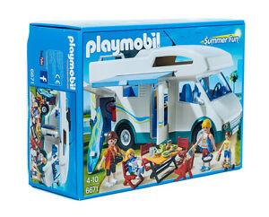 PLAYMOBIL-Summer-Fun-6671-Familien-Wohnmobil-mit-Zubehoer-NEU-OVP
