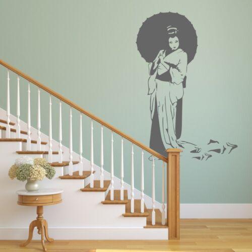 Geisha Umbrella BIG SIZES Reusable Stencil Wall Decor Decoration Oriental P9