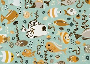 A1-Cute-Fishes-Cartoon-Poster-Art-Print-60-X-90cm-180gsm-Sea-Life-Gift-16807
