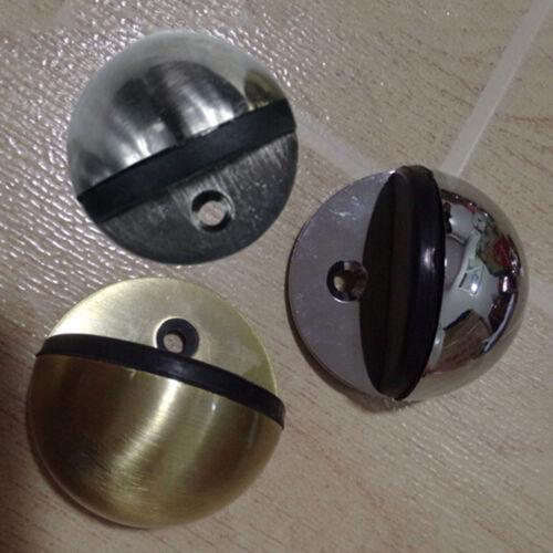 Metal Oval Door Stop Chrome Door Stopper Floor Doorstop Rubber Silver Gold N Xx