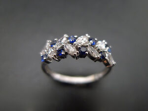 ESTATE-VINTAGE-MARQUISE-SIM-DIAMOND-ENGAGEMENT-WEDDING-RING-SET-14K-WHITE-GOLD