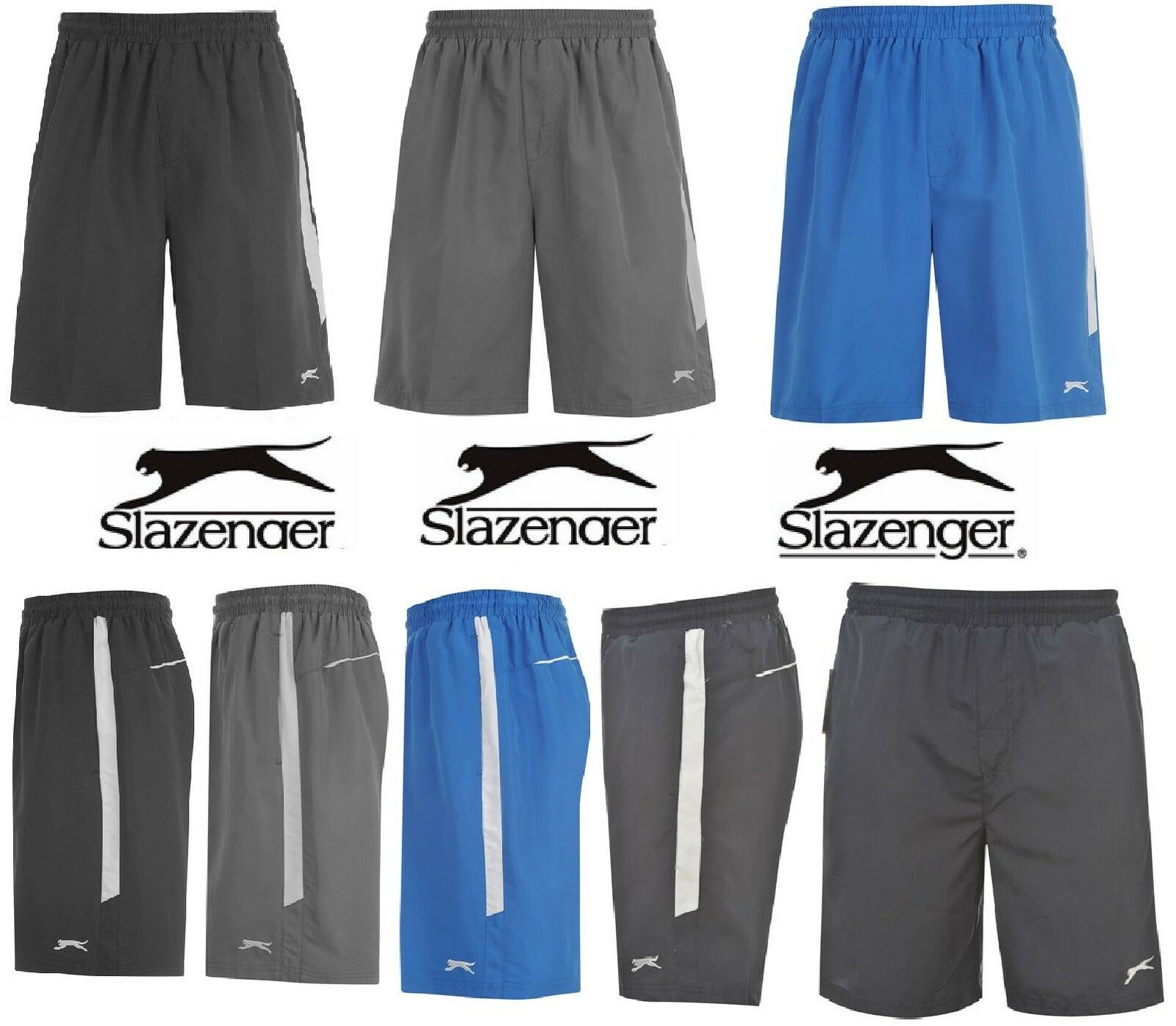 Pantalón corto para hombre Deportivo Slazenger Tejido Gimnasio Correr Casual Tamaño: S M L XL XXL BNWT