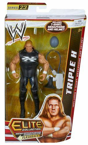 WWE Mattel Elite Series 23 Triple H Wrestling Action Figure (HHH DX)