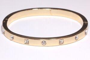 Damen-Armspange-Oval-mit-Swarovski-Kristall-Gold-Armreif-Ketten-Freundschaft