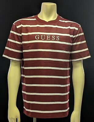 Guess oversize a righe BORDEAUX Los Angeles T shirt | eBay