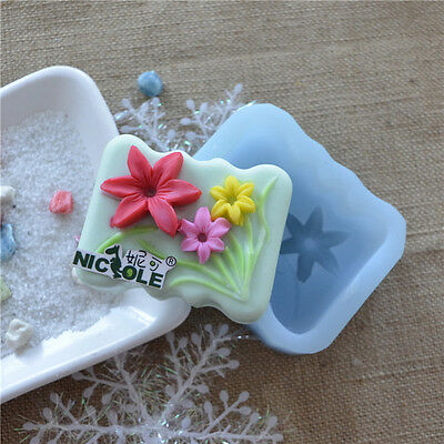 R0026 Nicole Handmade Flower Desing Forms For Soap Silicone DIY Jelly,Candy Mold