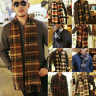 New Fashion Mens Warm Tassel Winter Check Plaid Shawl Wrap Long Scarves Scarf