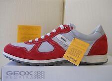 Geox sneakers uomo U Xity A pelle/textyle Rosso/Grigio scarpe n.44 Eu/11US €122