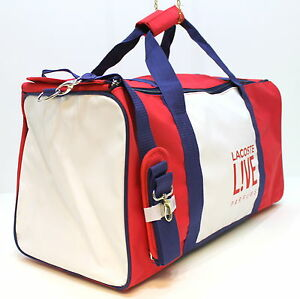 Mens Live Details Sport Parfums White RedBlueamp; Bag Duffle Lacoste About bvg67Yfy