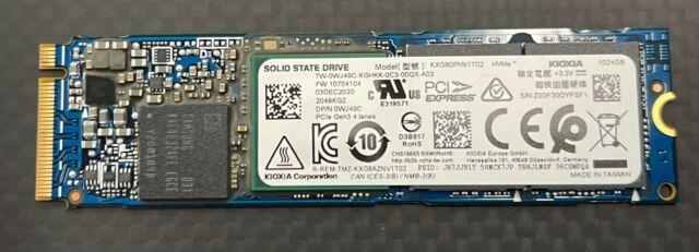 KIOXIA XG6 KXG60PNV1T02 1TB M.2 SSD PCIe NVMe M2 Solid State Drive DELL 0WJ49C