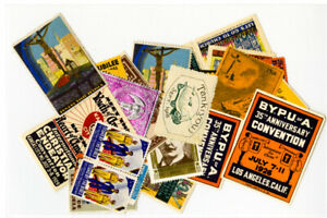 US-Stamps-Lot-of-33-Early-Labels-Some-Rare