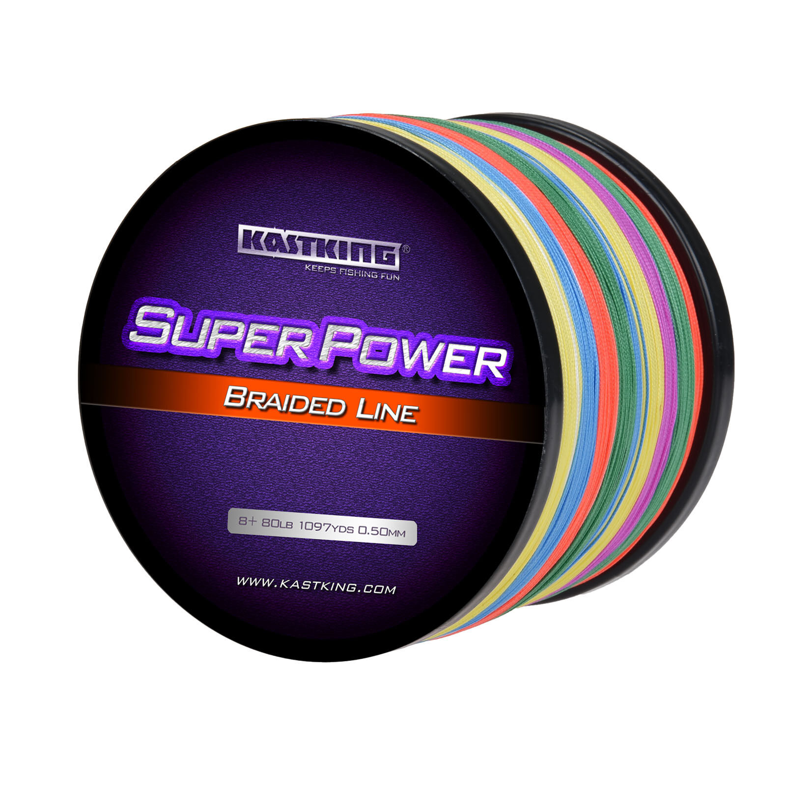 KastKing SuperPower Braided Fishing Line SELECT LB TEST 330 yds- 1094yds