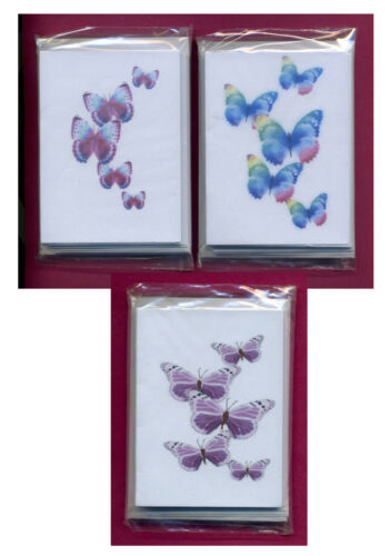 16 /& 18 BUTTERFLY GIFT NOTELETS by SELF-REPRESENTING ARTIST FREE P/&P