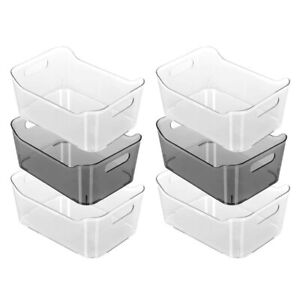 6x Box Sweden 24cm Crystal Home Kitchen Fridge Organiser Storage Container Asst.