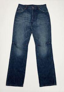 Benetton-jeans-uomo-usato-gamba-dritta-cargo-W32-tg-46-relaxed-denim-blu-T5467