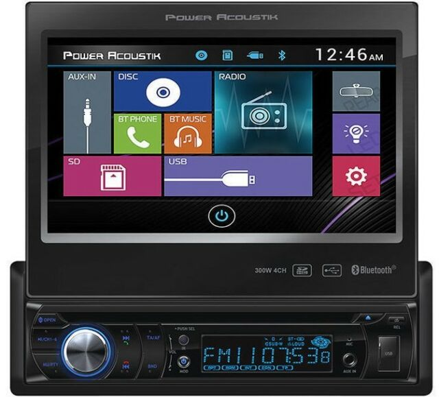 power acoustik pd454b 4 5 inch in dash touchscreen media receiver power acoustik wiring digrams power acoustik pd 724b 1 din car dvd cd mp3 usb sd player