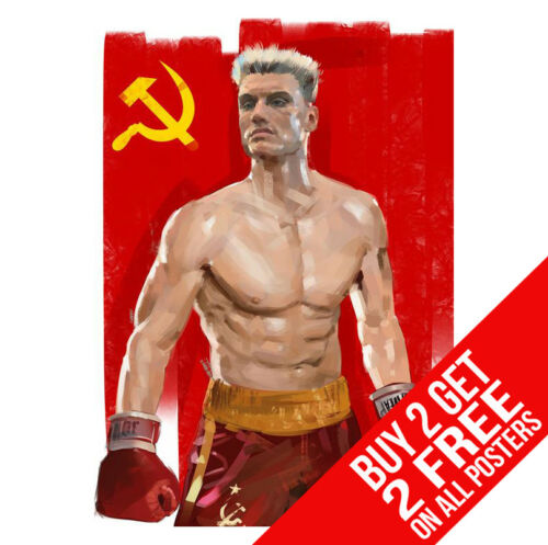 BUY 2 GET ANY 2 FREE ROCKY 4 IV IVAN DRAGO POSTER BB6 PRINT A4 A3 SIZE