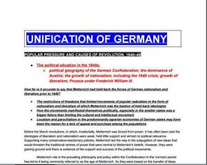 PDF--A* History A-level Essays--German Unification | eBay