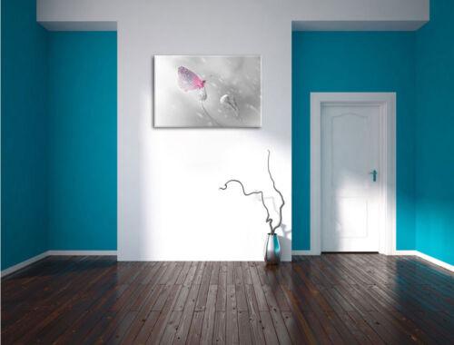 Schmetterling auf Blütenknospen Leinwandbild Wanddeko Kunstdruck
