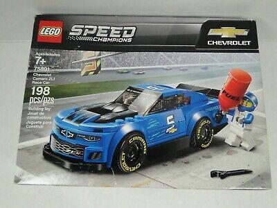 LEGO Speed Champions Chevrolet Camaro ZL1 Race Car 198Pc Building Kit Minifigure