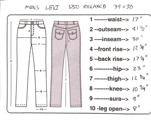 Relax Levi Coupe Jeans Mens 34x30 550 HRInqAxwT