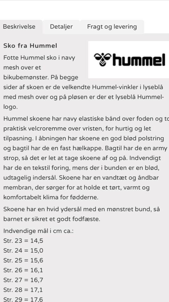 Andre børnesko, str. 30, Hummel