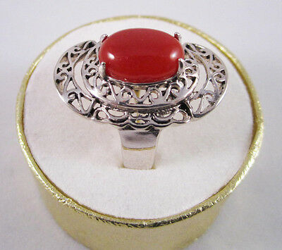 Shining Natural Ruby Gemstone Solid 925 Sterling Silver Ring Jewelry size 8 3/4