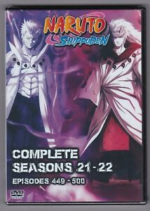 Details about Naruto Shippuden Episodes 449-500 in English Subtitles  Seasons 21 - 22 on DVD