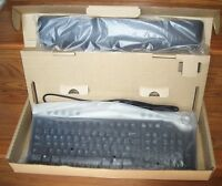 Dell Ps/2 Multimedia Black Silver Keyboard 02r400 Rt7d30 In Box