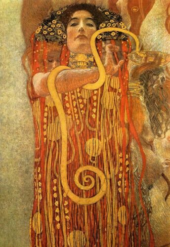 Art Poster  Gustav Klimt Hygeia     Print