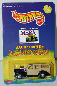 Limited-Edition-Hot-Wheels-40s-Woodie-MSRA-23rd-Annual-Hot-Rod-Conv-10-000-MOC