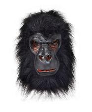 Gorilla Ape King Kong Latex Mask & Hair Fancy Dress Accessory P8598