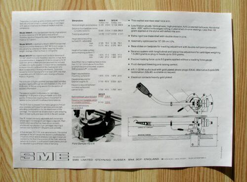SME 3010R Custom Designed Tonearm Cartridge Stylus Alignment Protractor