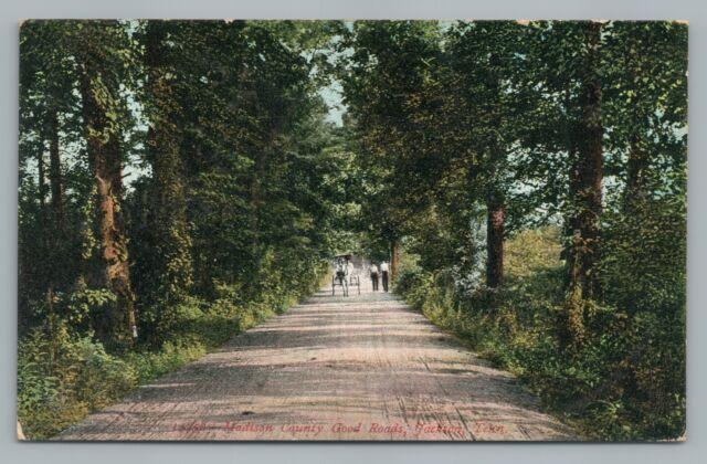 Madison County Good Roads Jackson Tn Rare Antique Tennessee Dirt