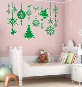 Christmas-New-Year-Angle-Window-Stickers-Wall-Paper-Decal-UK-RUI13